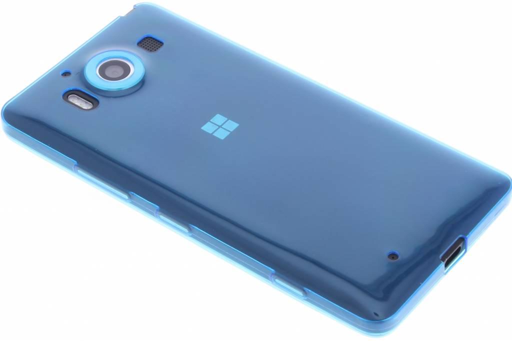 Blauw ultra thin transparant TPU hoesje voor de Microsoft Lumia 950