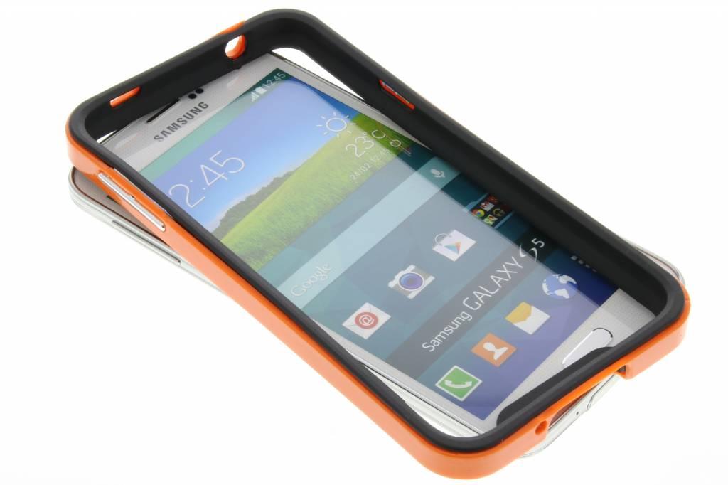 Oranje bumper voor de Samsung Galaxy S5 (Plus) / Neo