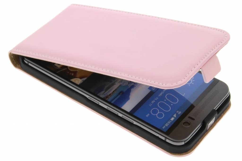 Selencia Luxe Flipcase voor de HTC One M9 Plus - Poederroze