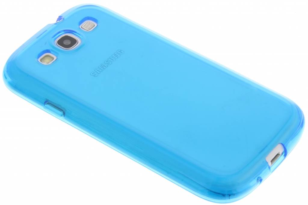 Blauw transparante gel case voor de Samsung Galaxy S3 / Neo
