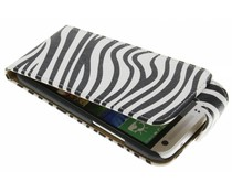 Zebra flipcase HTC One Mini 2