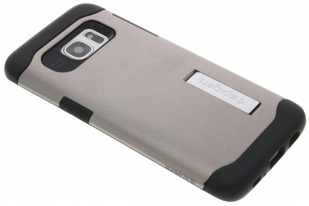 Spigen Slim Armor Case voor de Samsung Galaxy S7 Edge - Gunmetal