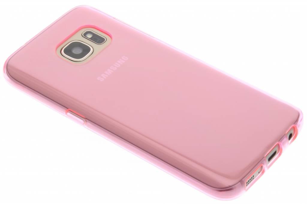 Roze transparante gel case voor de Samsung Galaxy S7