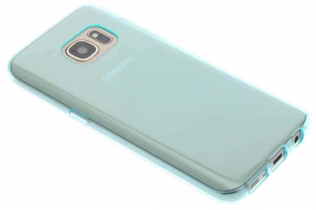 Turquoise transparante gel case voor de Samsung Galaxy S7