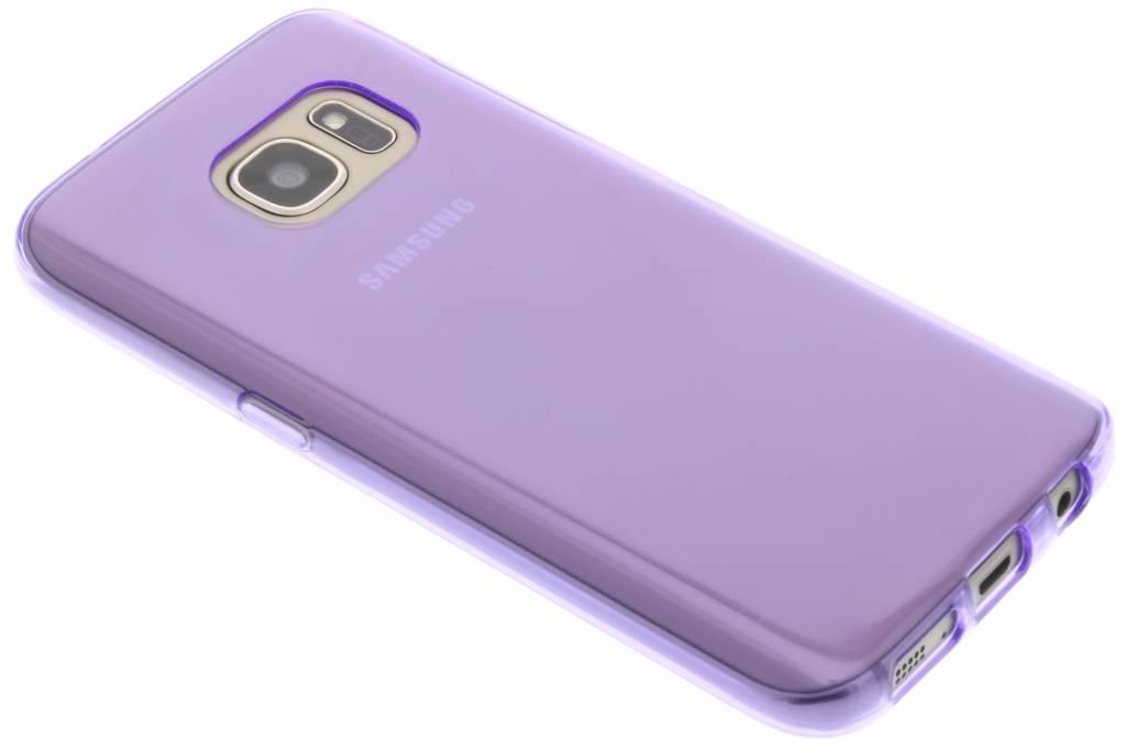 Paarse transparante gel case voor de Samsung Galaxy S7