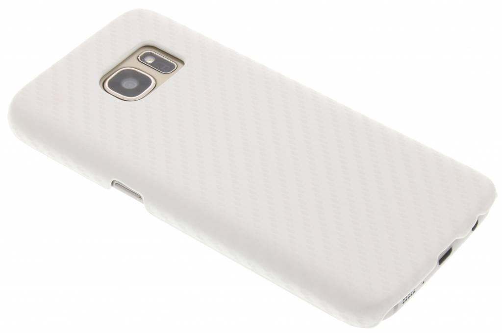 Wit carbon look hardcase hoesje voor de Samsung Galaxy S7