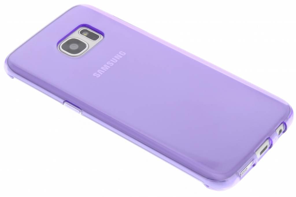 Paarse transparante gel case voor de Samsung Galaxy S7 Edge