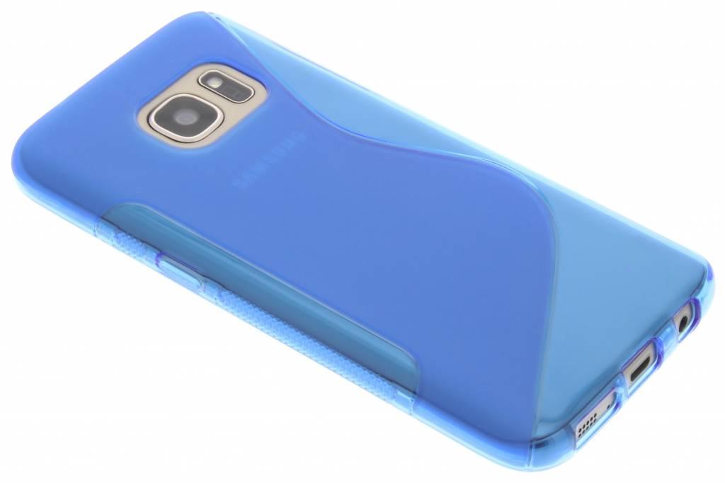 Blauw S-line TPU hoesje voor de Samsung Galaxy S7