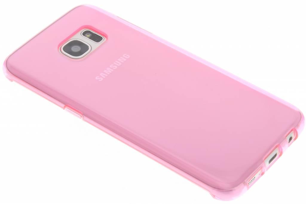 Roze transparante gel case voor de Samsung Galaxy S7 Edge
