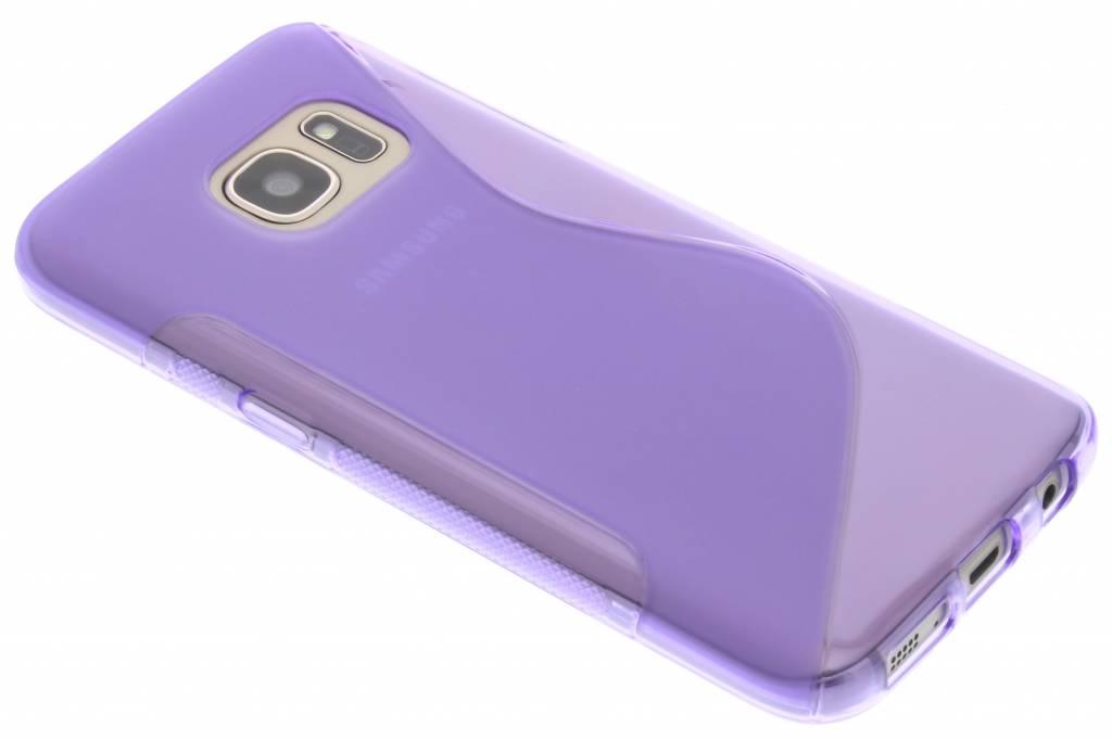 Paars S-line TPU hoesje voor de Samsung Galaxy S7