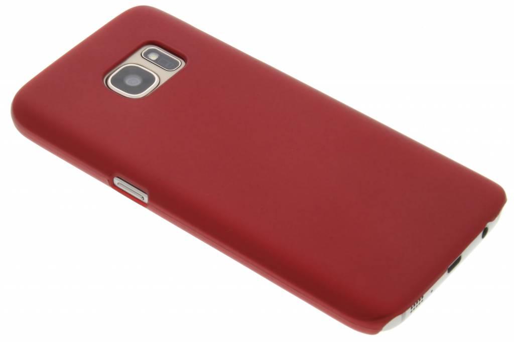 Rood effen hardcase hoesje voor de Samsung Galaxy S7