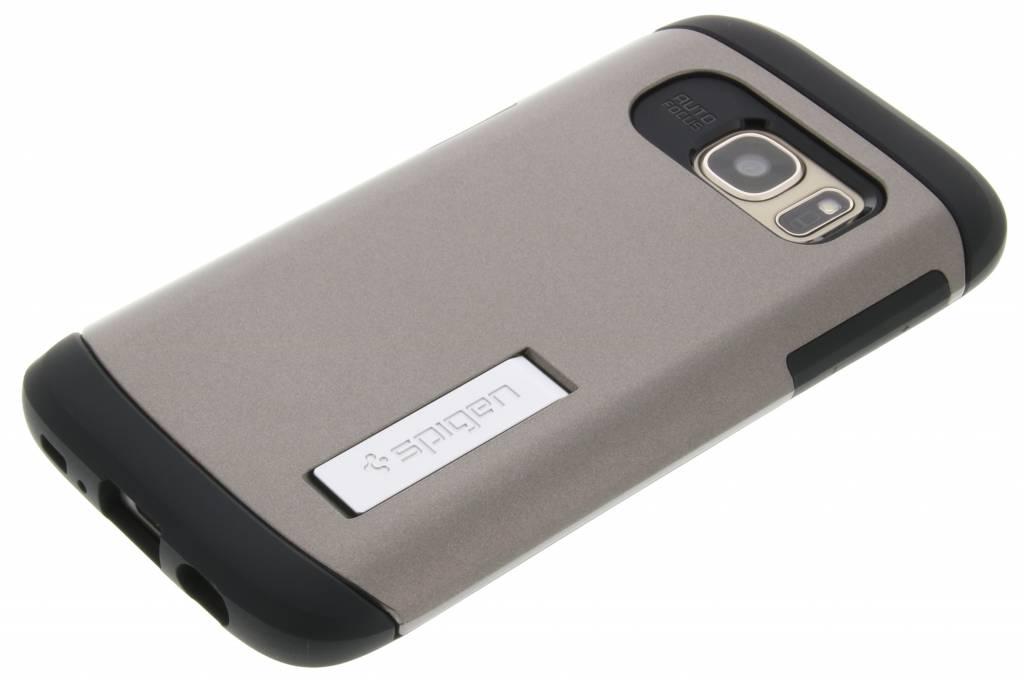 Cas Bleu Armure Mince Pour Samsung Galaxy S7 HJnfln