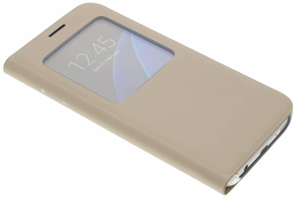 Samsung gouden originele S View Cover voor de Galaxy S7