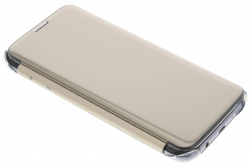 Samsung originele Clear View Cover voor de Galaxy S7 Edge - Goud