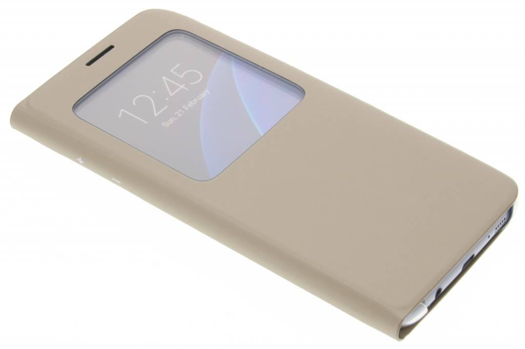 Samsung originele S View Cover voor de Samsung Galaxy S7 Edge - Goud