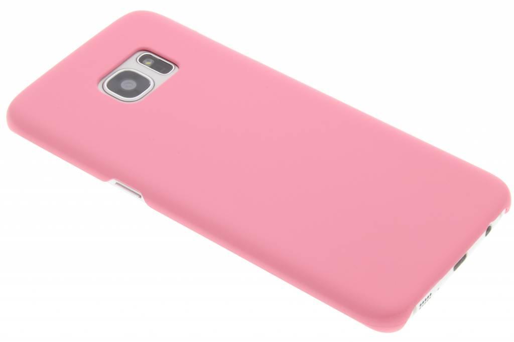 Roze effen hardcase hoesje voor de Samsung Galaxy S7 Edge