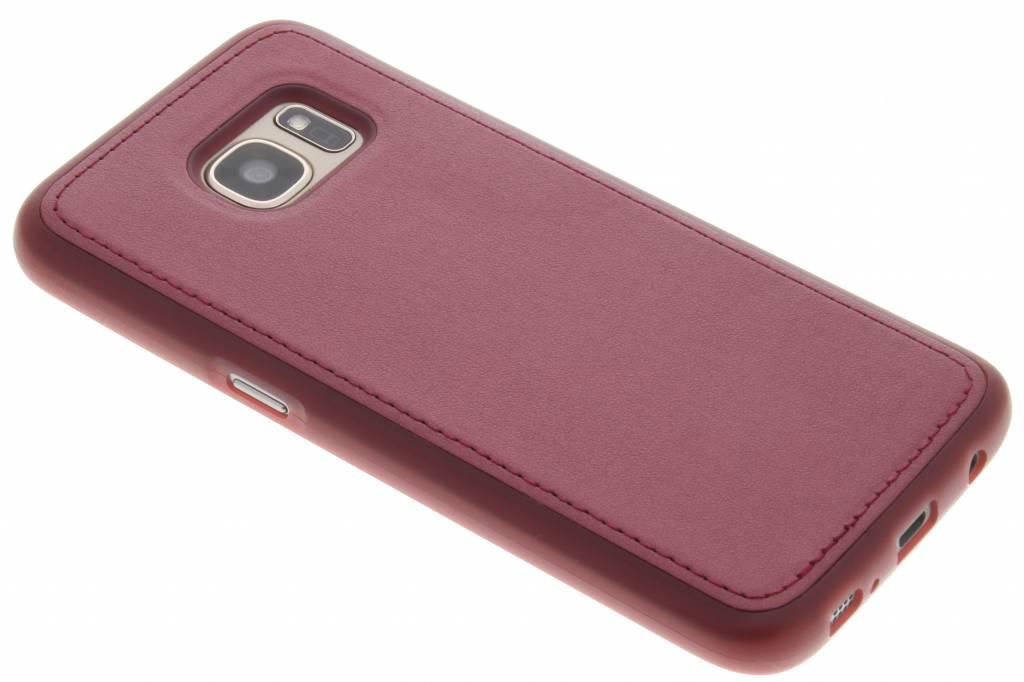 Rood metallic lederen TPU case voor de Samsung Galaxy S7