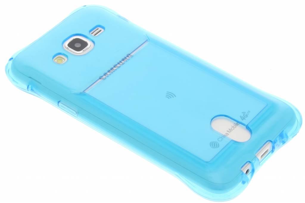 Coque Tpu Bleu Avec Compartiment Pour Samsung Galaxy J5 V47wjUV