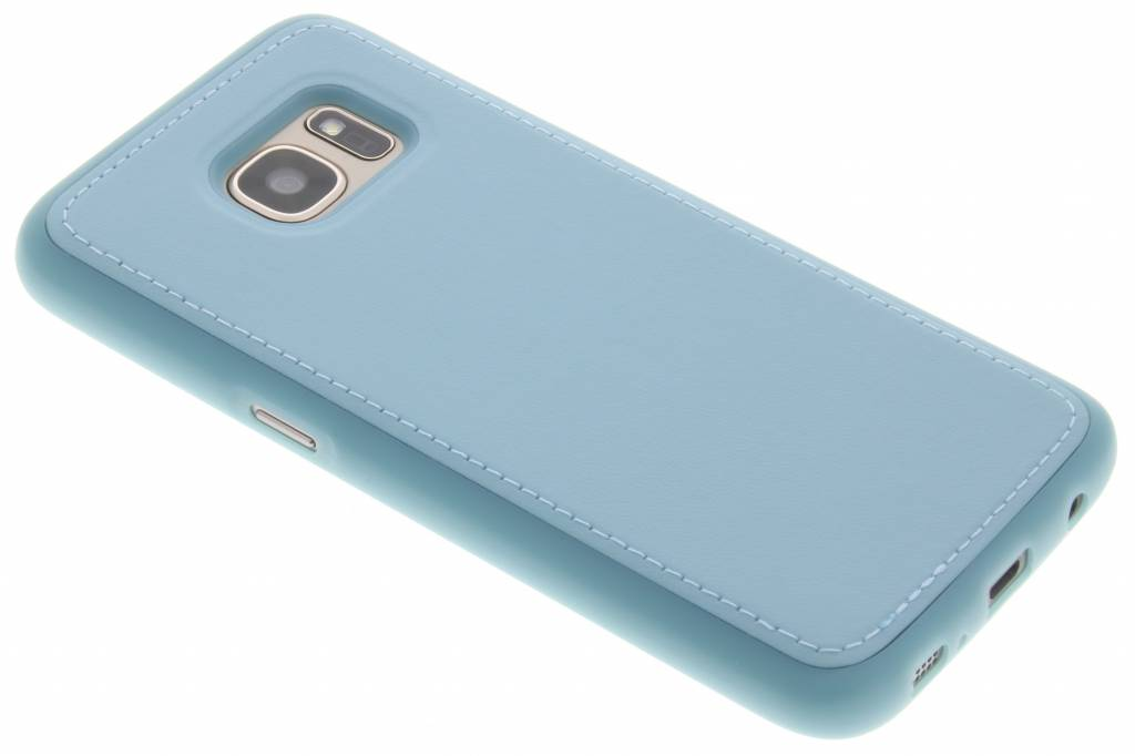 Turquoise lederen TPU case voor de Samsung Galaxy S7