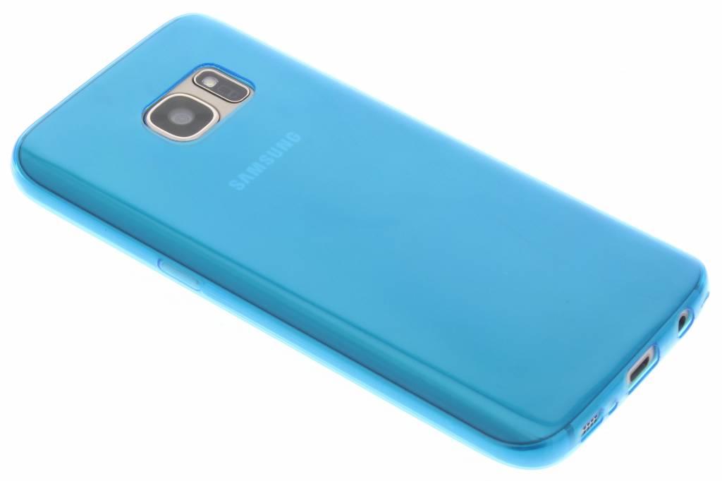 Blauw ultra thin transparant TPU hoesje voor de Samsung Galaxy S7