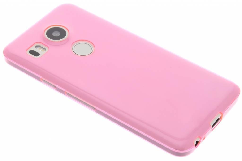 Roze ultra thin transparant TPU hoesje voor de LG Nexus 5X