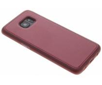 Metallic lederen TPU case Samsung Galaxy S7 Edge