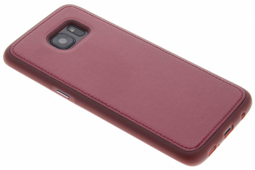 Rood metallic lederen TPU case voor de Samsung Galaxy S7 Edge