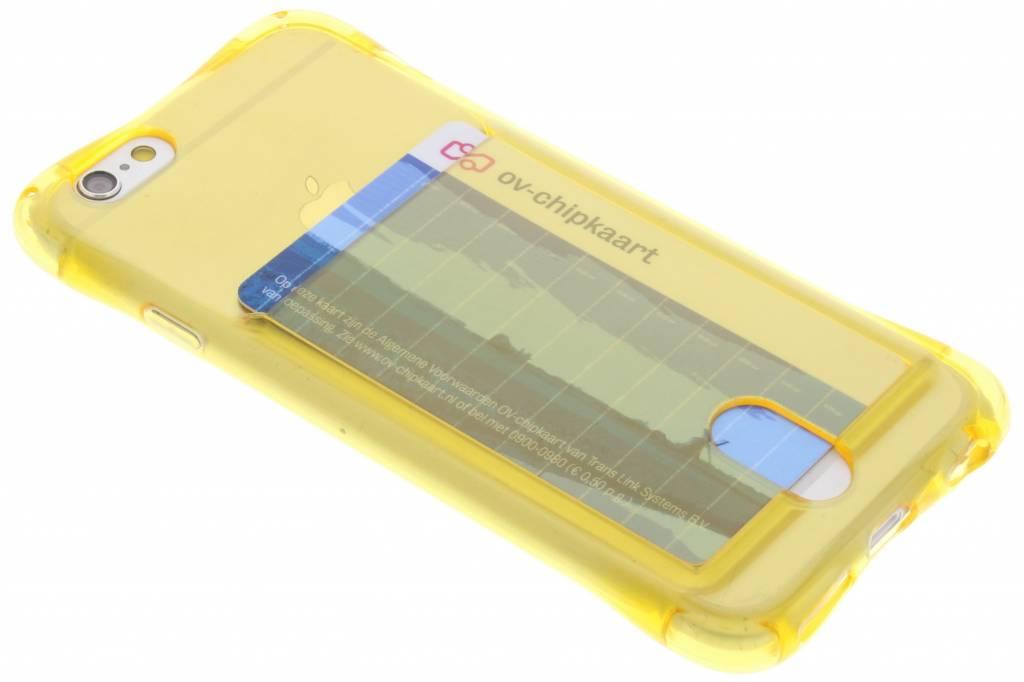 Geel TPU hoesje met vakje voor de iPhone 6 / 6s