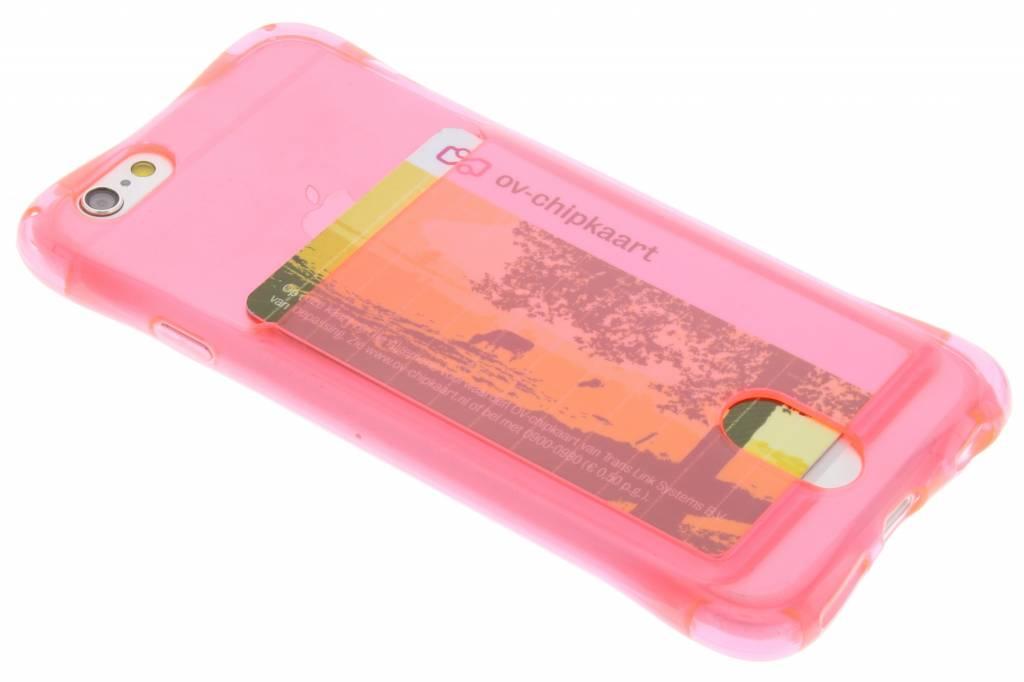 Roze TPU hoesje met vakje voor de iPhone 6 / 6s