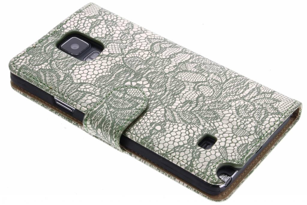 Groene glamour design booktype hoes voor de Samsung Galaxy Note 4