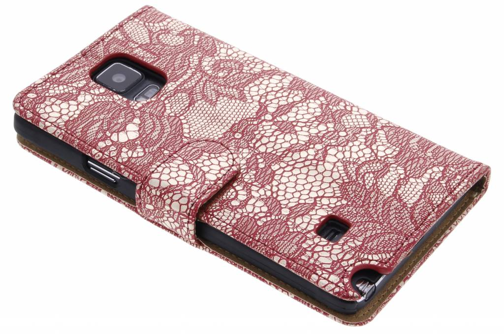 Rode glamour design booktype hoes voor de Samsung Galaxy Note 4