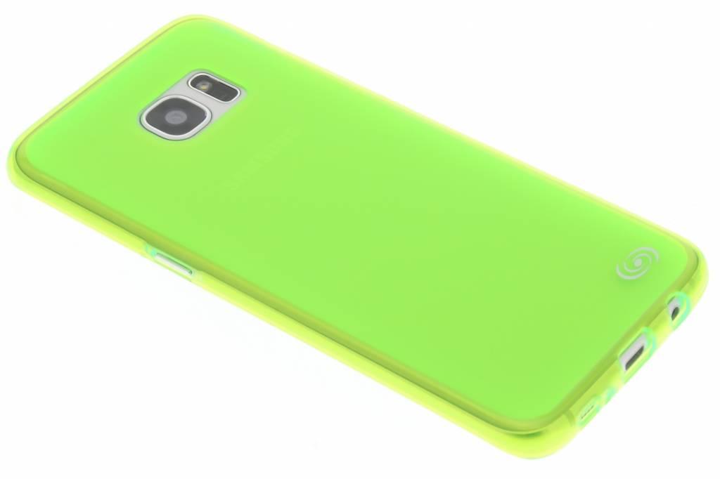 Fonex Pixel TPU Case voor de Samsung Galaxy S7 Edge - Neon Green