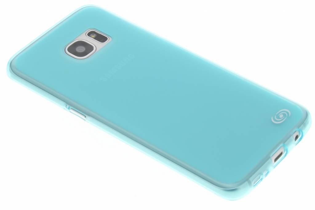 Fonex Pixel TPU Case voor de Samsung Galaxy S7 Edge - Turquoise
