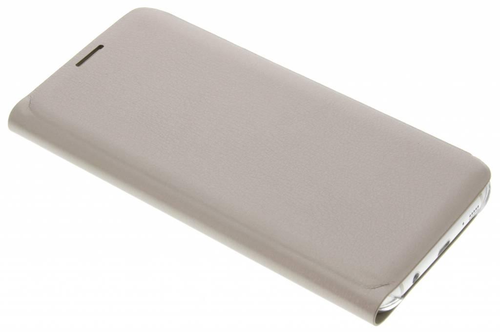 Gouden luxe slim booktype hoes voor de Samsung Galaxy S7 Edge