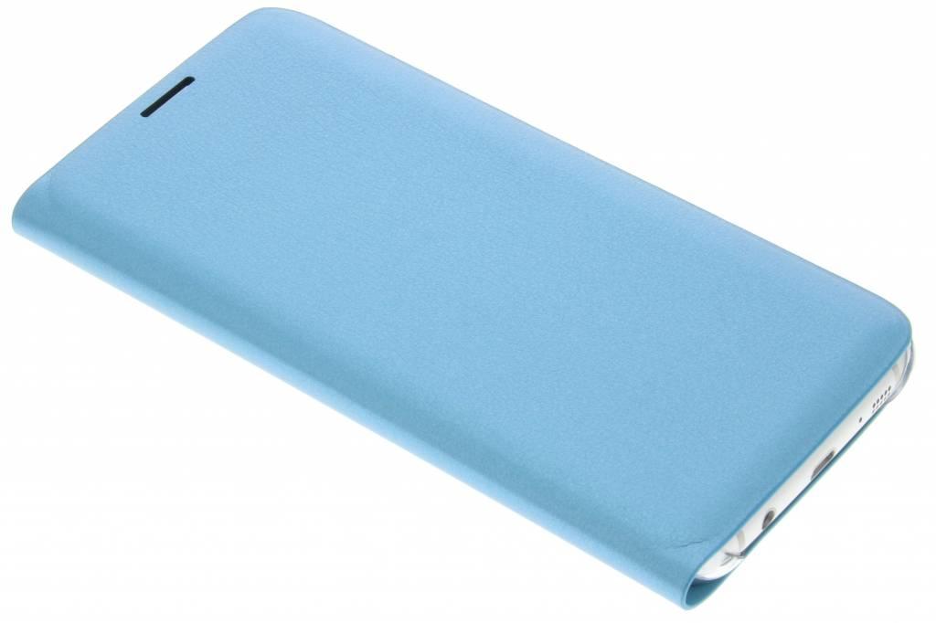 Turquoise luxe slim booktype hoes voor de Samsung Galaxy S7 Edge