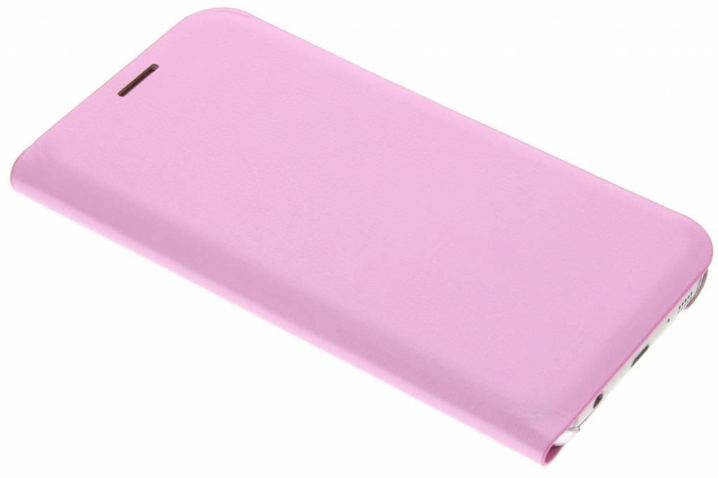 Roze luxe slim booktype hoes voor de Samsung Galaxy S7