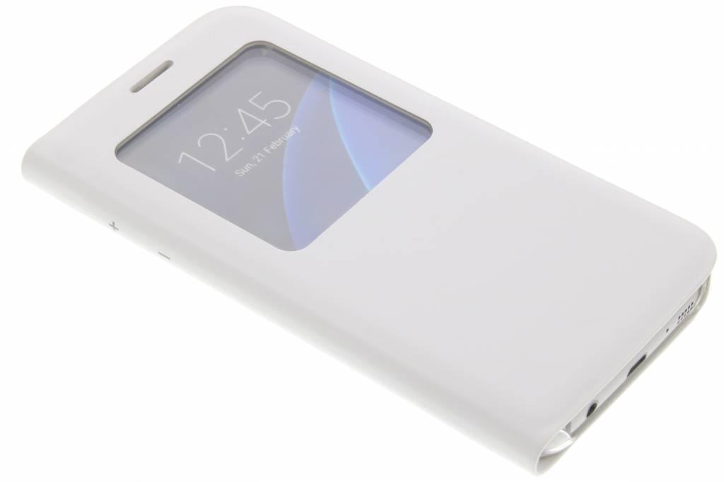 Witte slim booktype hoes met venster voor de Samsung Galaxy S7
