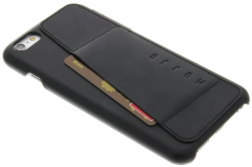 Mujjo Leather Wallet Case 80° Apple iPhone 6 Plus-6s Plus Zwart
