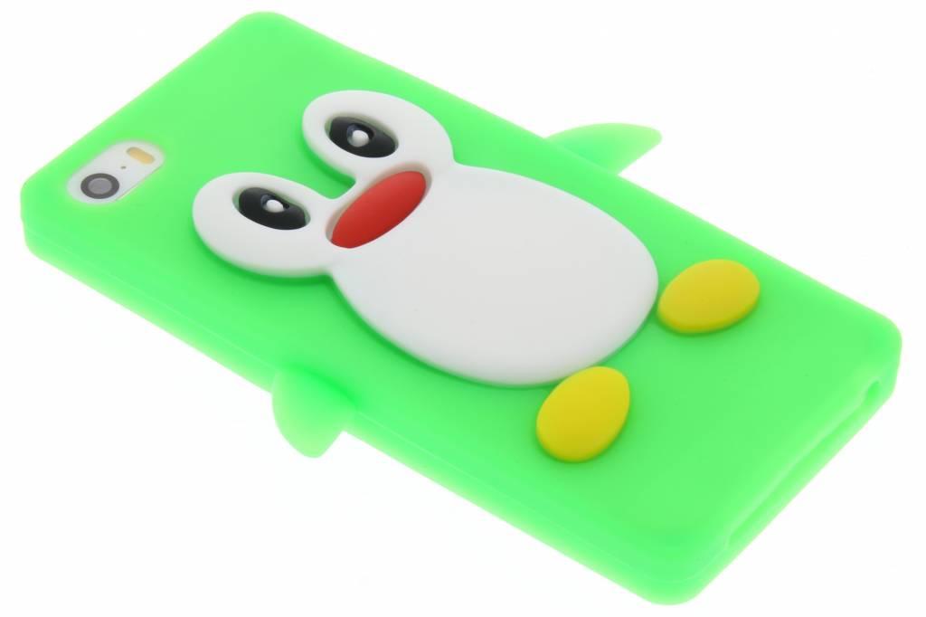 Neon groen pinguin siliconen hoesje voor de iPhone 5 / 5s / SE