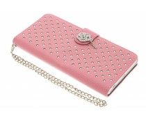 Roze chique strass booktype hoes Sony Xperia Z5