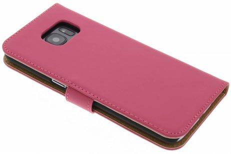 Cas Du Livre De Luxe Pour Samsung Galaxy S7 - Poudre Rose Xb1RKH9fY