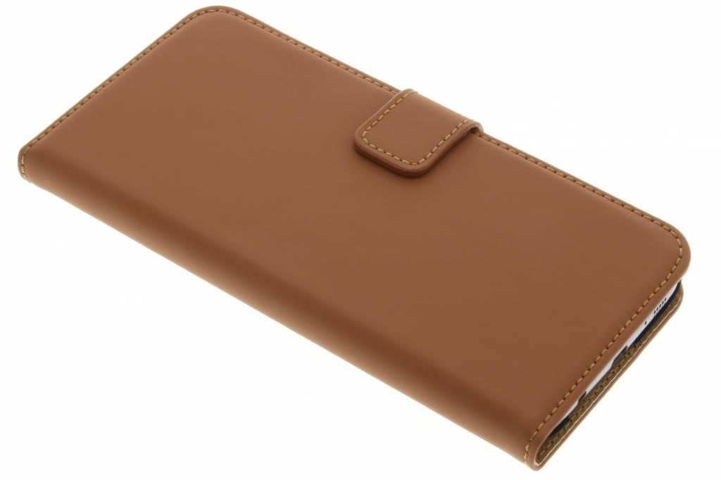 Selencia Luxe Book Case voor de Samsung Galaxy S7 Edge - Bruin