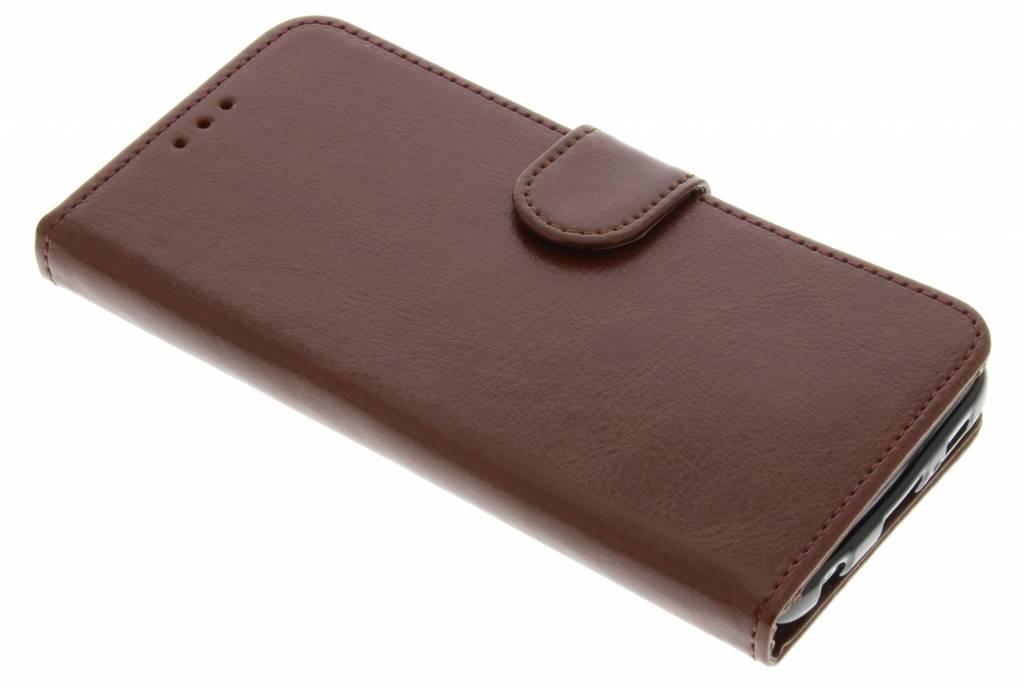 Bruine effen TPU booktype hoes voor de Samsung Galaxy S6 Edge