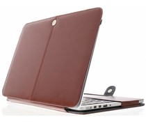 Bruin effen booktype MacBook 12 inch