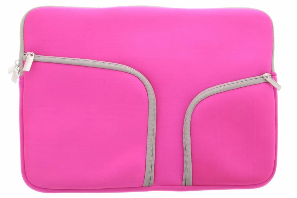 Roze universele neopreen laptoptas voor de MacBook 13.3 inch