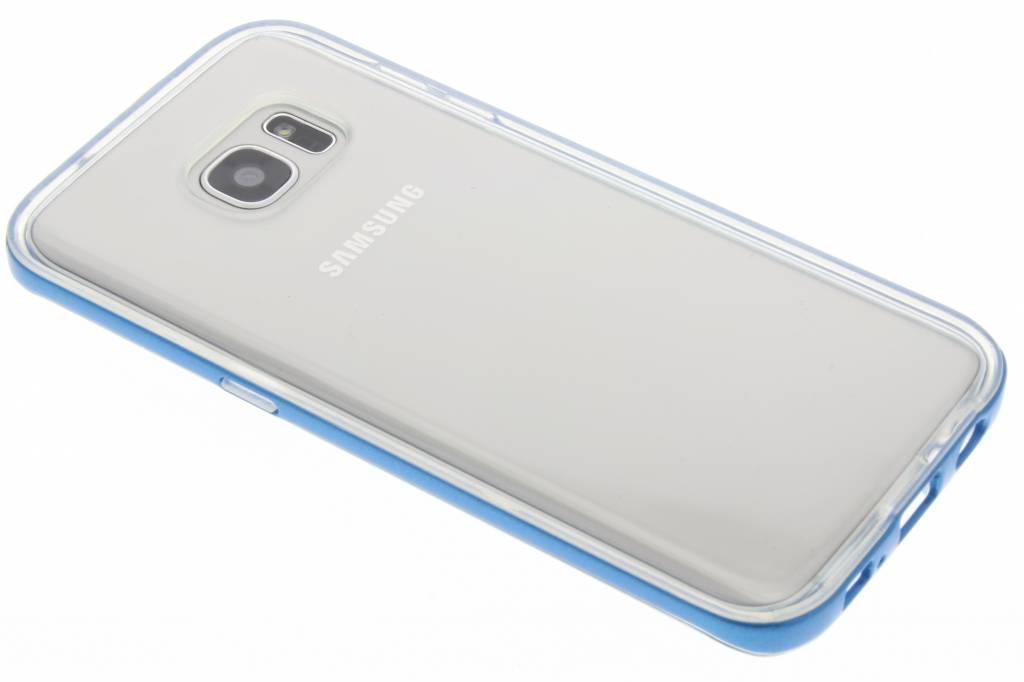 Blauwe bumper TPU case voor de Samsung Galaxy S7 Edge