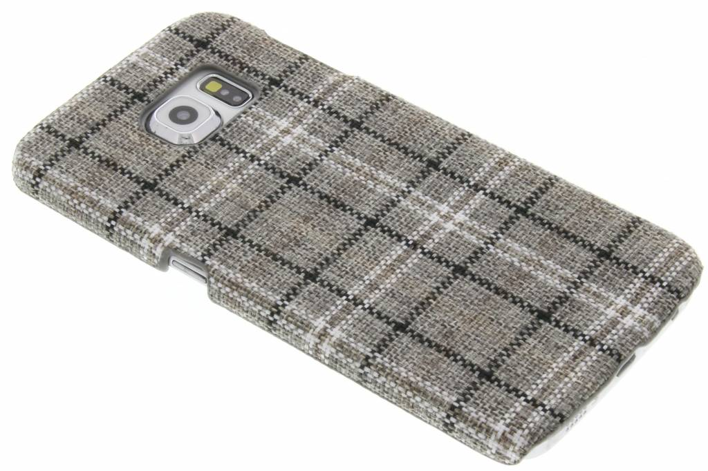 Fonex Tartan Hard Case voor de Samsung Galaxy S6 Edge - Grey