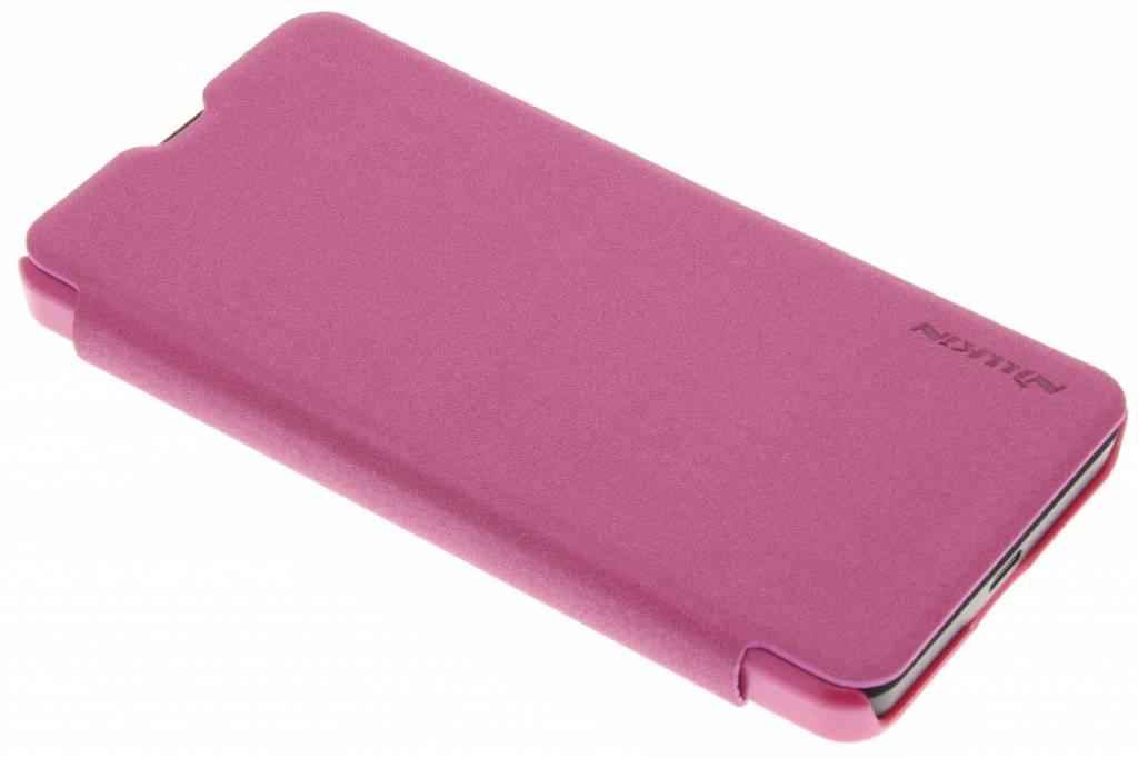 Nillkin Sparkle slim booktype hoes voor de Microsoft Lumia 550 - Fuchsia