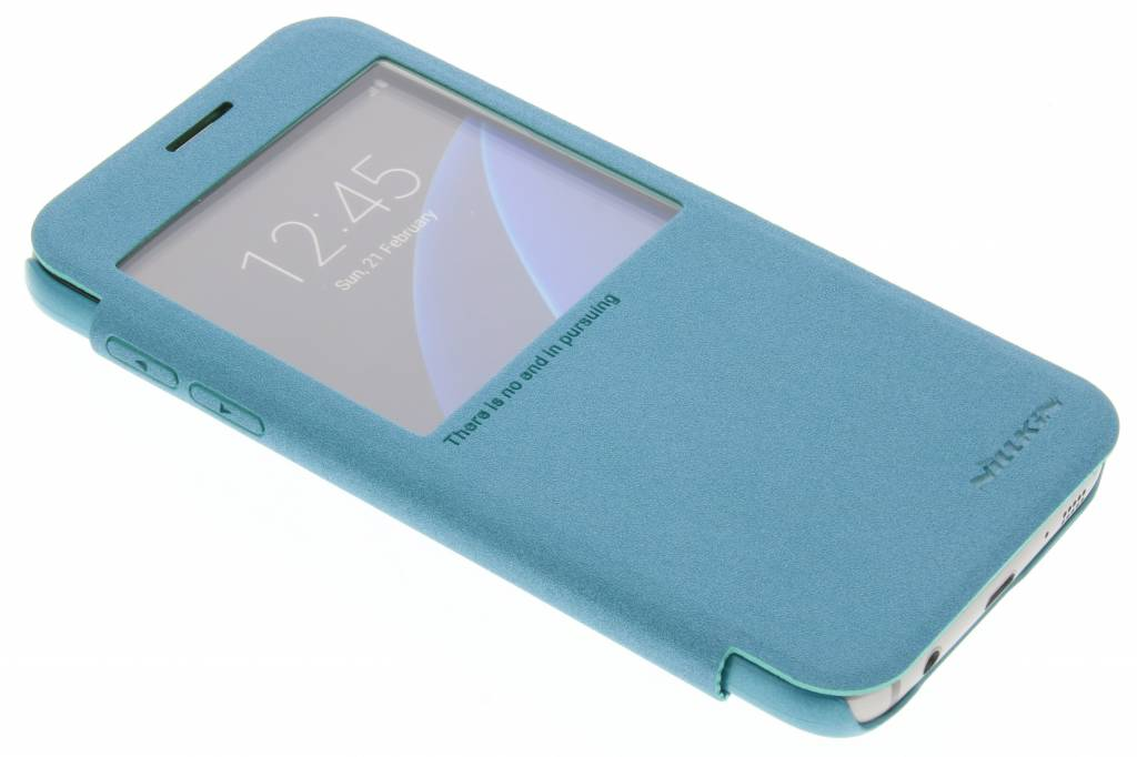 Nillkin Sparkle slim booktype hoes voor de Samsung Galaxy S7 - Turquoise