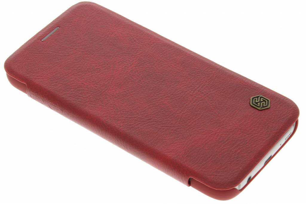 Nillkin Qin Leather slim booktype hoes voor de Samsung Galaxy S7 - Rood